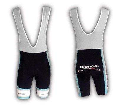Bianchi Team Carbon broek kort Celeste