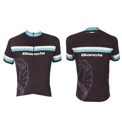 Bianchi Sport Shirt korte mouw zwart